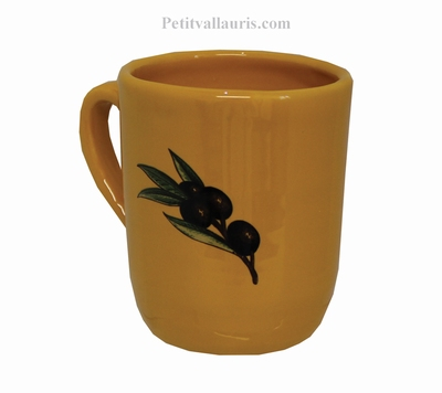 CERAMIC MUG WITH CUSTOMIZED NAME AND YELLOW COLOR