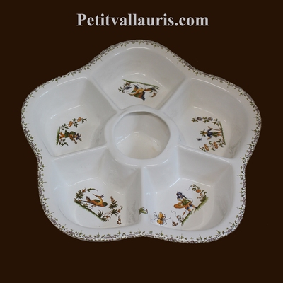 FAIENCE COMPARTIMENT DISH TRADiTION SOUTH FRANCE DECORATION