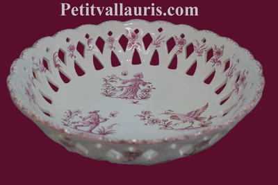 FRUITS CUP MODEL TRADITION PINK OLD MOUSTIERS DECOR