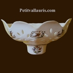 FAIENCE APPLY FACET OLD MOUSTIERS TRADITION DECORATION