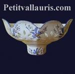 APPLY FACET BLUE FLOWERS DECORATION