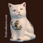 CHATON CERAMIQUE DECOR TRADITION VIEUX MOUSTIERS