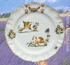 FAIENCE PLATE LOUIS XV MODEL OLD MOUSTIERS DECORATION