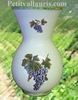 VASE NADINE TAILLE 1 DECOR GRAPPE DE RAISIN