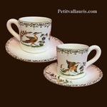 COFFEE CUP AND SAUCER OLD MOUSTIERS TRADITION DECORATION