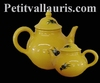 TEAPOT PROVENCAL COLOR WITH BLACK OLIVES DECOR