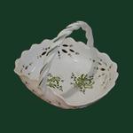 CERAMIC BASKET GREEN FLOWERS DECORATION DIAMETER 30 CM