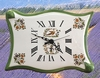FAIENCE WALL CLOCK PARCHMENT MODEL MOUSTIERS TRADITION DECOR