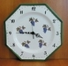 FAIENCE WALL CLOCK WITH DECORATION GRAPES