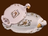 FOIE GRAS DISH OLD MOUSTIERS TRADITION DECORATION