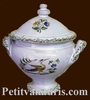 MINIATURE SOUP TUREEN OLD MOUSTIERS DECORATION TRADITION