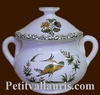 MINIATURE ROUND POT OLD MOUSTIERS TRADITION DECORATION