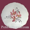 STYLE DISH BELOW PINK FLOWERS DECORATION