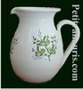 WATER JUG 1 LITER APPROXIMATELY GREEN FLOWER DECOR