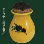 PROVENCE GRASS POT YELLOW COLOR BLACK OLIVES