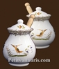 POT A MOUTARDE JARRE DECOR TRADITION VIEUX MOUSTIERS