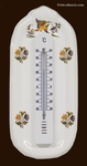 THERMOMETER WITH MURAL SUPPORT OLD MOUSTIERS DECOR