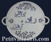 CHEESE-BOARD OLD MOUSTIERS BLUE TRADITION  DECORATION