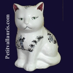 CHATON CERAMIQUE DECOR TRADITION VIEUX MOUSTIERS BLEU