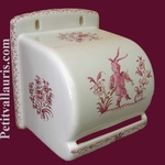 DEROULEUR DE PAPIER TOILETTE DECOR TRADITION MOUSTIERS ROSE