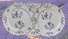 PLATE LOUIS XV MODEL OLD MOUSTIERS BLUE DECORATION