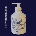 DISTRIBUTEUR DE SAVON LIQUIDE DECOR TRADITION MOUSTIERS BLEU