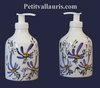LIQUID SOAP DISPENSER BLUE FLOWERS DECORATION