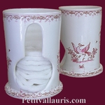 COTTON DISTRIBUTOR OLD MOUSTIERS PINK DECORATION