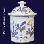 UHO MODEL BATHROOM POT SIZE 1 BLUE FLOWER DECOR