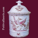 UHO MODEL BATHROOM POT SIZE 1 PINK OLD MOUSTIERS DECOR