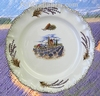 ASSIETTE MODELE LOUIS XV DECOR MOULIN PROVENCAL ET LAVANDES