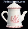 MINIATURE COFFEE POT PINK OLD MOUSTIERS TRADITION DECOR