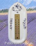 THERMOMETER WITH MURAL SUPPORT BLUE OLD MOUSTIERS DECOR