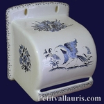 DEROULEUR DE PAPIER TOILETTE DECOR TRADITION MOUSTIERS BLEU