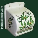 TOILET PAPER UNCURLER GREEN FLOWER DECORATION