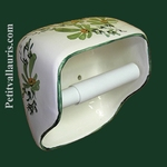 TOILET PAPER UNCURLER  NEW MODEL GREEN FLOWERS DECORATION