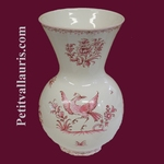 VASE NADINE TAILLE 2 DECOR TRADITION VIEUX MOUSTIERS ROSE