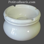 ANTI SMOKE ASHTRAY WHITE COLOR ENAMELLED