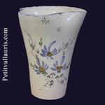CERAMIC VASE GLAIEUL BLUE FLOWERS DECORATION HEIGHT 25 CM