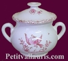 MINIATURE ROUND POT PINK OLD MOUSTIERS TRADITION DECOR