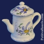 MINIATURE COFFEE POT BLUE FLOWER DECORATION