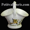MINIATURE BASKET OLD MOUSTIERS TRADITION DECORATION