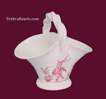 MINIATURE BASKET PINK OLD MOUSTIERS TRADITION DECORATION