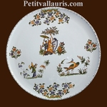 TART DISH OLD MOUSTIERS TRADITION DECORATION