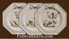 ASSIETTE OCTOGONALE PLATE DECOR TRADITION VIEUX MOUSTIERS