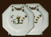 ASSIETTE OCTOGONALE DESSERT DECOR TRADITION VIEUX MOUSTIERS