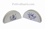 PORTE SERVIETTES DE TABLE DECOR DE TRADITION MOUSTIERS BLEU