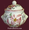 SUGAR BOWL STYLE MODEL PINK FLOWERS DECOR
