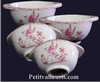 BOWL WITH HANDLES OLD MOUSTIERS PINK DECORATION