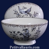 SIMPLE BOWL MODEL BLUE OLD MOUSTIERS TRADITION DECORATION